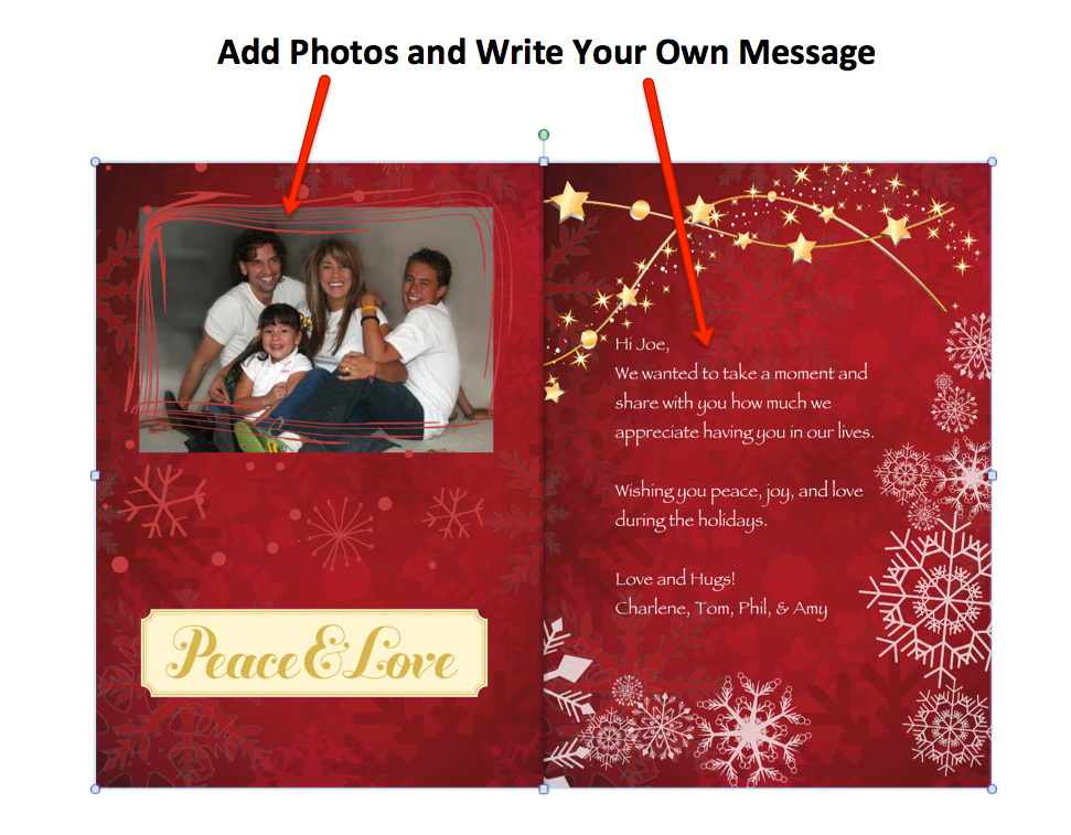 free Christmas Card inside
